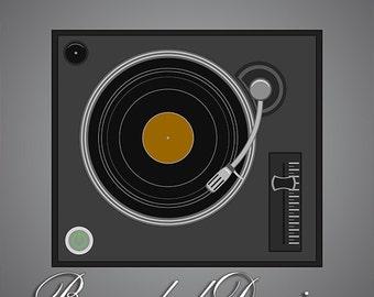Simple stylized vintage vinyl player | Vector