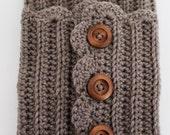 Crochet Boot Cuffs Button Up ,Boot Toppers , Crochet Boot Cuffs , Womens Boot Socks , Winter Accessory