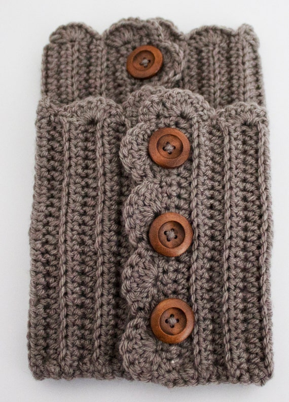 Free Crochet Patterns For Boot Cuffs With Buttons : Crochet Boot Cuffs Button Up Boot Toppers Crochet Boot