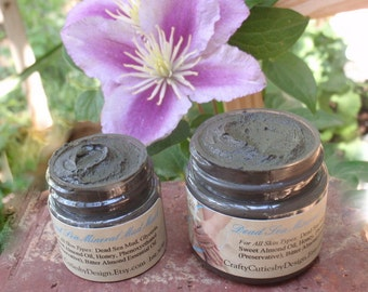 Dead Sea Mud Mask 1.5 oz or 2.5 oz - Mineral Mud from Dead Sea Jordan - Face & Body Skin Detox Facial, Travel, Sample Size, All Skin Types
