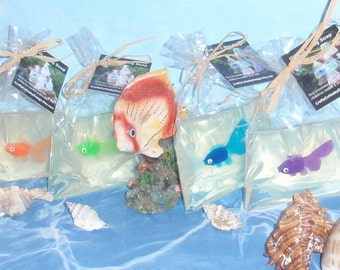 Items similar to 10 fish in a bag soap goldfish party for Salt bath for fish