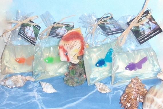 Fish in a bag soap 4 oz fun kids hand or bath soap goldfish for Fish in a bag soap