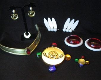 Sailor Moon cosplay accessory set (MANGA and CRYSTAL version)