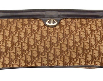 Pouch in fabric and leather monogrammee Dior