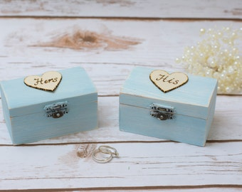 Wedding Ring Box Set Mr and Mrs Ring Box RIng Bearer Holder