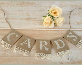 Cards Banner Wedding Sign Card Box banner Rustic wedding
