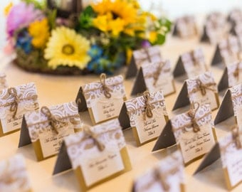 50 Rustic wedding place cards