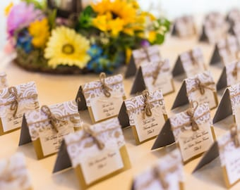 25 Rustic Wedding Place Cards