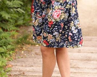 Skirt short vintage 1990 s printed floral