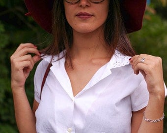 Blouse white vintage