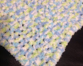 Baby Afghan, Blue Variegated