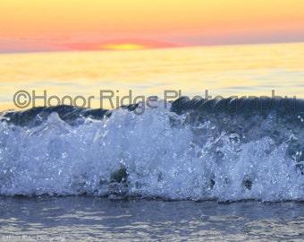 Sun Set and waves