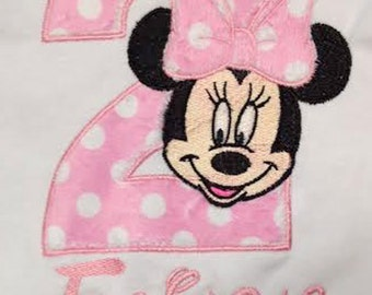 Pink Minnie Mouse 2nd Birthday Onesie T Shirt Personalized
