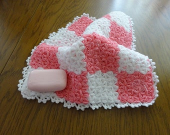 Wash Cloth, 1 each, Body Cloth, Dish Cloth, Spa Cloth..Hand Crocheted, Wash Cloth Hand Crocheted