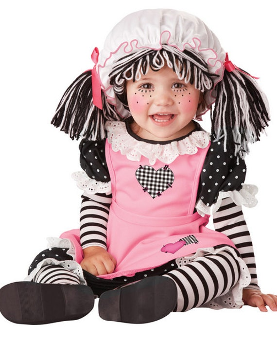 Hot New Cute Baby Doll Raggedy Ann Toddler/Infant Girls Halloween Costume 12-24  sc 1 st  Trendy New Designers & Cheap Halloween Costumes For Kids - Trendy New Designers