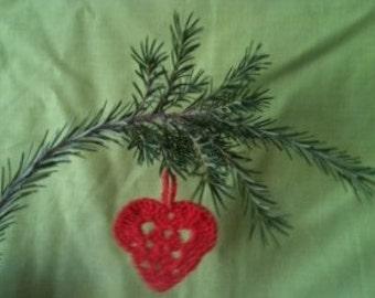Crochet Christmas Hearts