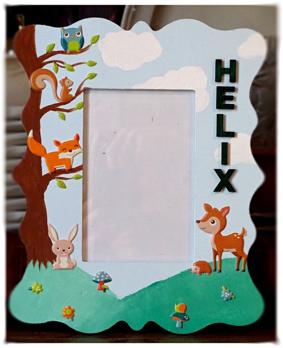 Made-To-Order - Personalized Woodland 4x6 Picture Frame