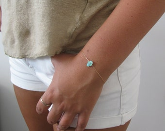 Hamsa bracelet, opal bracelet, gold bracelet, gold hamsa bracelet, sideways bracelet, gold hand bracelet, dainty bracelet, char