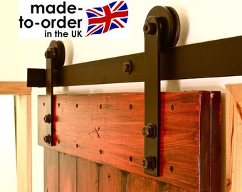 RUSTIC Sliding barn door hardware for wood door DIY kit