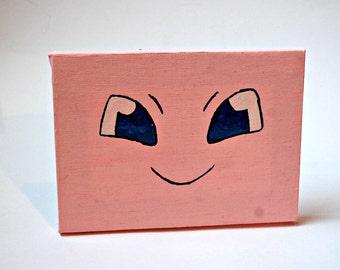 Mew Pokemon Art (painted canvas)