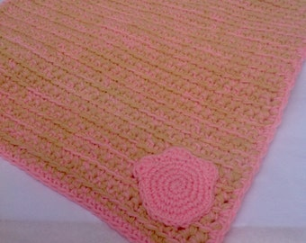 Crocheted Pet Mat, Crocheted Kitty Mat, Dog/Cat Mat, Pink Pet Mat, Cat Carpet