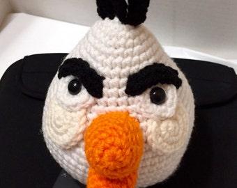 Crochet Angry Bird White, Amigurumi Angry Bird, White Angry Bird, Crochet Angry Bird