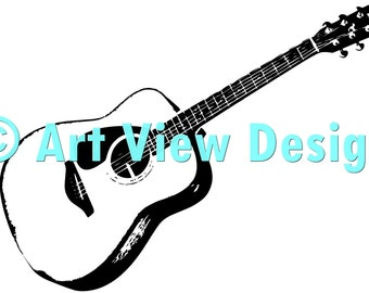 Pattern Acoustic Guitar ©