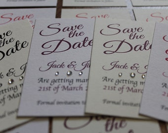 10 cards Personalised Magnetic Wedding Save the Date and envelopes