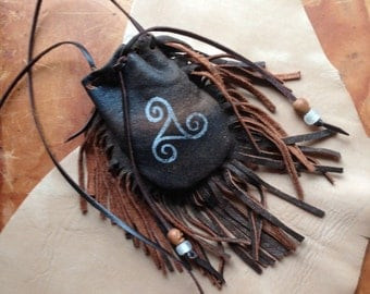 Leather medicine bag rituals, Celtic medicine bag