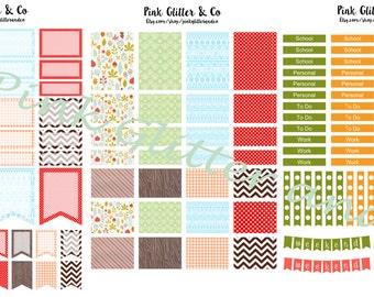 Printable Fall Acorn Kit for Plum Paper Planner