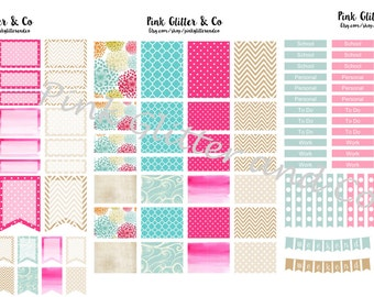 Printable Pink and Tan Kit for Plum Paper Planner