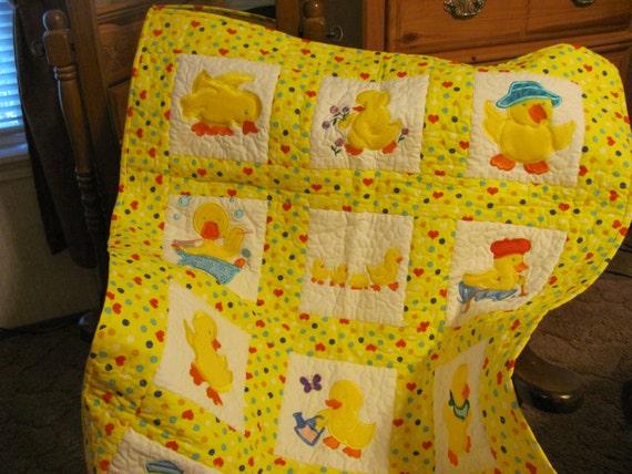 Baby Duck Baby Quilt