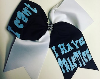 Softball Bow / Cheer Bow / Volleyball Bow / I can't, I have practice