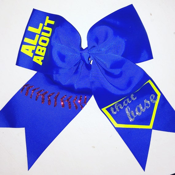 foto de All About That Base Softball Hair Bow Softball Bow