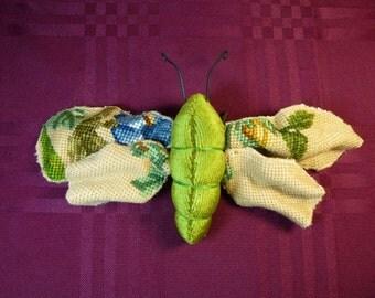 Vintage Tapestry Moth, Textile Art (4)