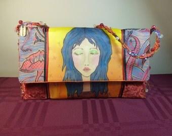 Painted OOAK Art Bag