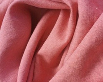 Washed Linen - Coral