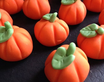 x6 Edible Pumpkin Cupcake or Cake Toppers | Halloween, Thanks Giving, Autumn, Fall