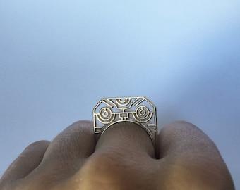 brass warrior ring