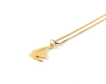 Sailboat I delicate necklace I 925 gold plated