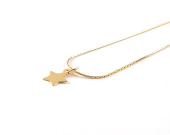 Star I delicate necklace I 925 gold plated