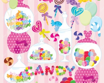 Candy Clipart, Personal & Commercial use, Vector,  Instant download Illustration_CA-05