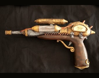 Steampunk Gun, Tesla prototype, Victorian Weapon - made in thermoplastic material and resin, 100% hand made italian manufactory