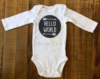 Hello World Baby Bodysuit