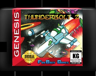 "SPECIAL ORDER! ""Thunderbolt 2"" Rare Sega Genesis Shooter, AWESOME!!"