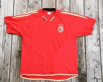 VINTAGE Spain Espana Andres INIESTA #6 Soccer Football Futbol Jersey XL
