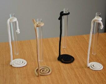Test tube flowers vases