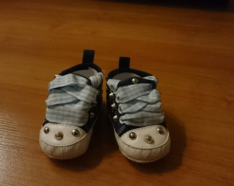 Baby boy toddler shoes, customize toddler shoes, toddler studs shoes, handmade customize baby shoes