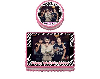 5 SOS 5 Seconds of Summer Birthday Party Edible Cake Topper Cupcake Personalized Custom Made Image