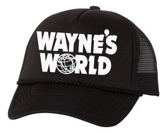 Wayne's World Wayne Campbell Garth Shwing Cosplay Trucker Foam Mesh Party Hat